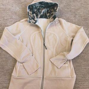 Lululemon black/white fleece hoodie